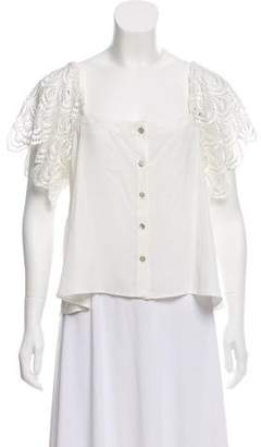 Stone_Cold_Fox Stone Cold Fox Lace Short Sleeve Top
