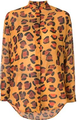 Tata-Naka Tata Naka oversized leopard shirt