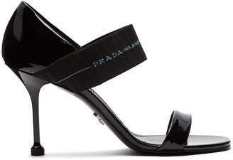 Prada Logo-strap patent-leather sandals