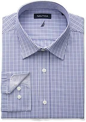 Nautica Men's Classic Fit Spread Collar Dress Shirt