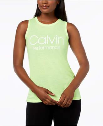 Calvin Klein Logo Wide-Racerback Tank Top
