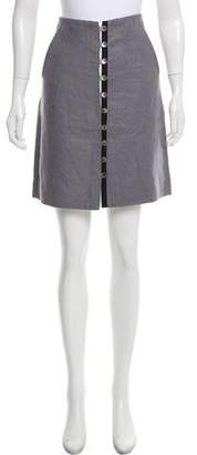 Thom Browne Button-Accented Knee-Length Skirt