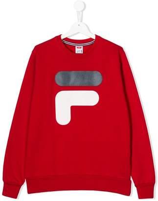 Fila TEEN logo printed sweatshirt