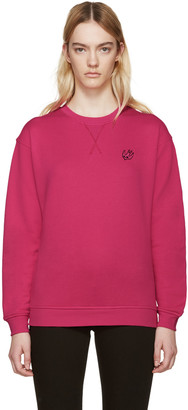 McQ Alexander Mcqueen Pink Embroidered Pullover $240 thestylecure.com