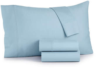 Sunham Bari 350 Thread Count 4-Pc. Solid Queen Sheet Set