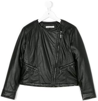 Liu Jo Kids collarless biker jacket