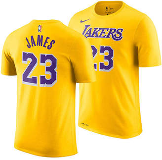 Nike LeBron James Los Angeles Lakers Replica Name and Number T-Shirt, Little Boys (4-7)