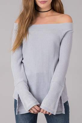 Others Follow Off Shoulder Thermal Top