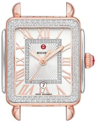 Michele Deco Madison Mid Two-Tone Watch Head, Rose/Steel