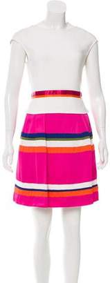 Alberta Ferretti Striped A-Line Dress