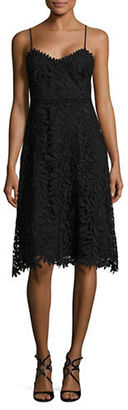 Guess Soft V-Neck Lace Dress $138 thestylecure.com