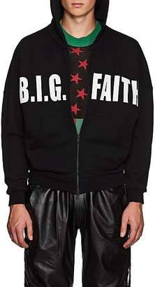 "UPSTAIRS AT ERIC'S Men's ""B.I.G. Faith"" Cotton Fleece Hoodie"