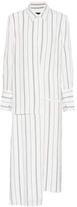 Joseph Claudi striped rayon midi dress