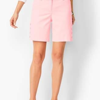 Talbots Button-Hem Shorts - Solid