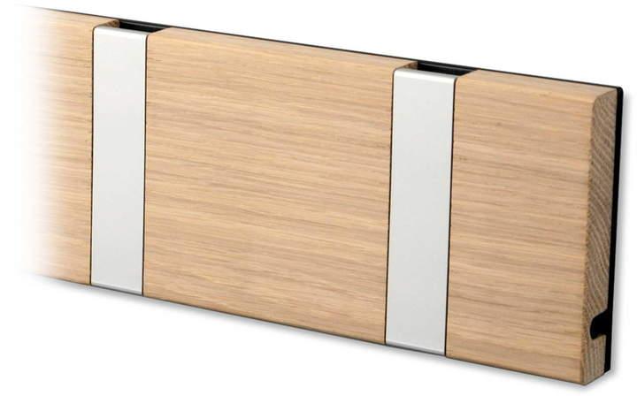 LoCa - Knax 6 Garderobenleiste, Eiche geseift / grau