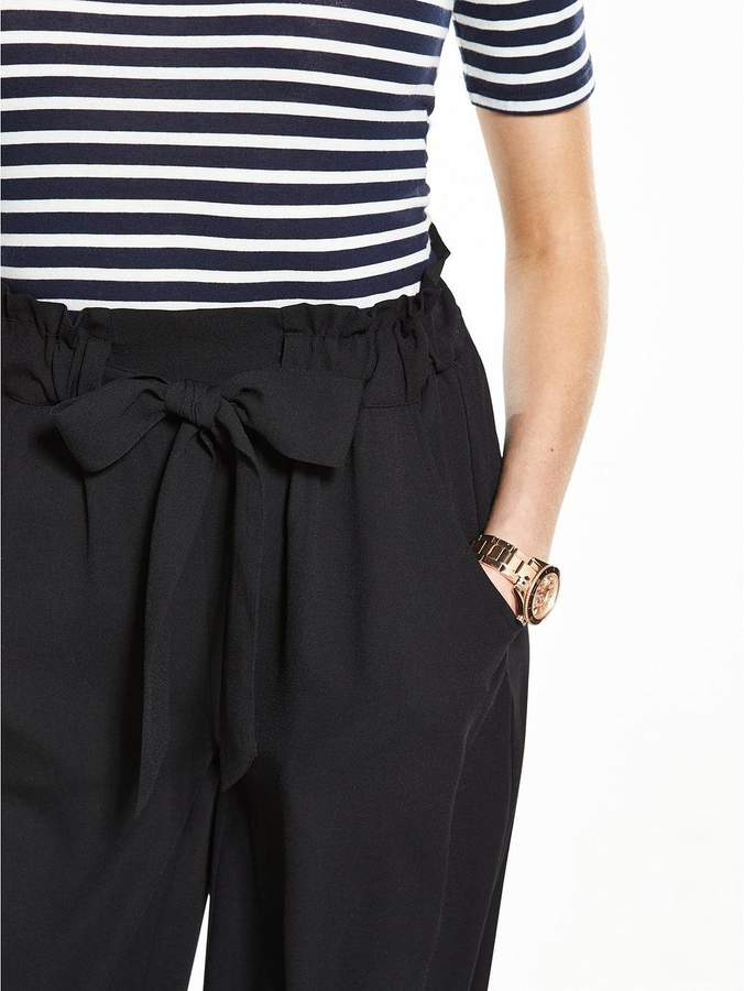 Very Wide Leg Crepe Palazzo Trousers