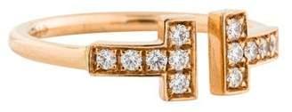 Tiffany & Co. 18K Diamond T Open Band