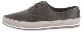 Prada Sport Leather Espadrille Sneakers