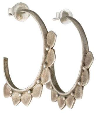Me & Ro Me&Ro Medium Lotus Petal Hoop Earrings