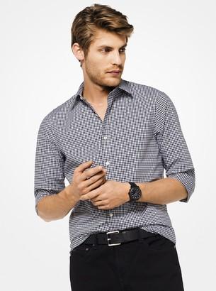 Michael Kors Slim-Fit Gingham Stretch-Cotton Shirt
