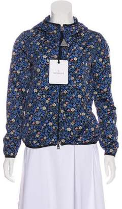 Moncler Floral Print Hooded Jacket w/ Tags
