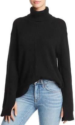 Aqua Seamed Cashmere Turtleneck Sweater - 100% Exclusive
