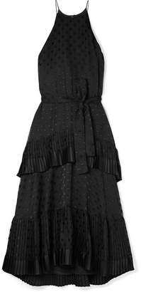 Zimmermann Picnic Tiered Polka-dot Devoré-chiffon Dress - Black