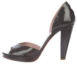Chloé Patent Leather d'Orsay Pumps