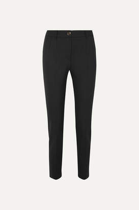 Dolce & Gabbana Wool-blend Tapered Pants - Black