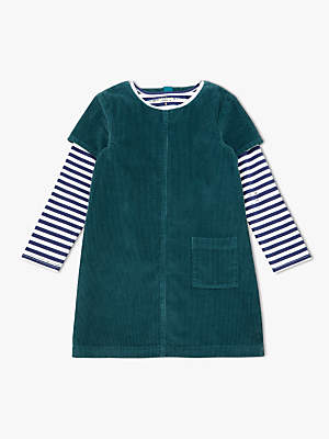 John Lewis & Partners Girls' Corduroy Pinafore Dress And T-Shirt Set
