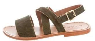 Marni Ponyhair Crossover Sandals
