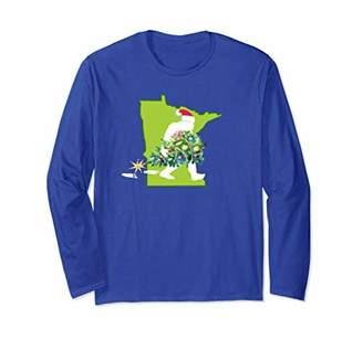 Minnesota Bigfoot State Christmas Tree T Shirt