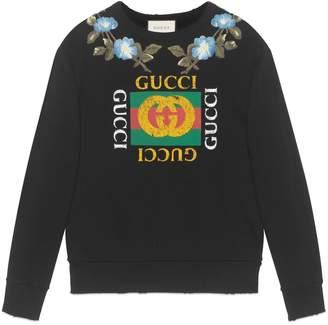 Gucci Panther face cotton sweatshirt