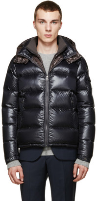 Moncler Grey Down Zin Jacket $1,535 thestylecure.com