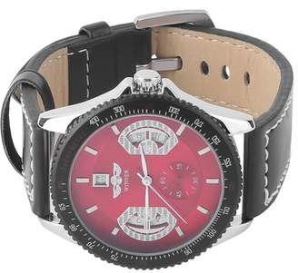 Dodomore Leather Band Date Calendar Mechanical Automatic Stainless Steel Case Men Watch