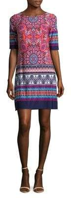 Eliza J Printed Shift Dress