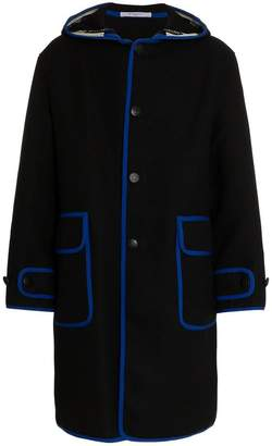 Givenchy contrast trim parka coat