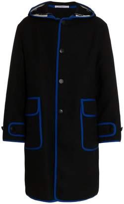 Givenchy contrast trim parka coat
