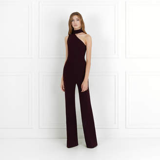 Rachel Zoe Suki Stretch-Crepe One-Shoulder Jumpsuit