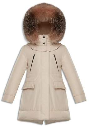 Moncler Girls' Marion Fur-Trimmed Down Parka - Big Kid