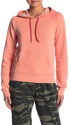 Lucky Brand Contrast Drawstring Hoodie