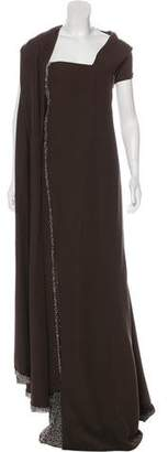 Ralph Rucci Embellished Evening Dress