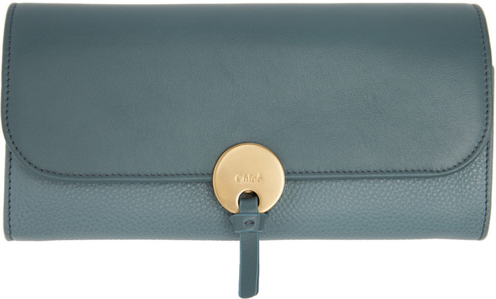 Chloé Chloé Blue Long Indy Wallet