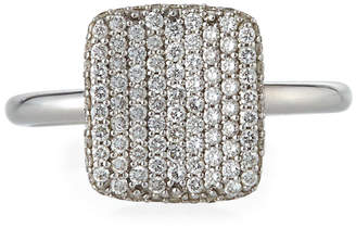Roberto Coin 18k White Gold Diamond Square Ring, Size 6.5