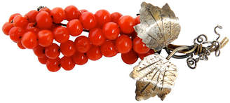 One Kings Lane Vintage Victorian Coral Bead Pin - N.P.Trent Antiques