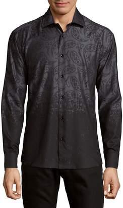 Bertigo Men's Ombre Paisley Button-Down Shirt
