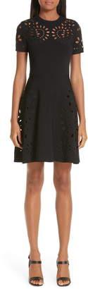 Valentino Eyelet Detail Knit Dress