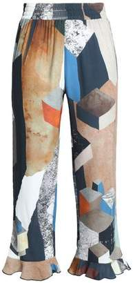 Dagmar House Of Vega Printed Jersey Kick-Flare Pants