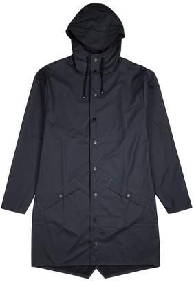 Rains Navy Rubberised Raincoat