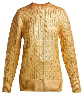 Sies Marjan - Sophia Cable Knit Sweater - Womens - Gold